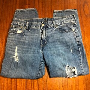 Gap best girlfriend distressed jeans